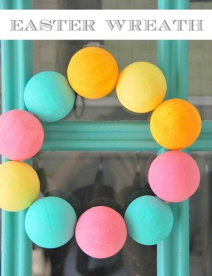 easy easter wreath - via the sweetest digs