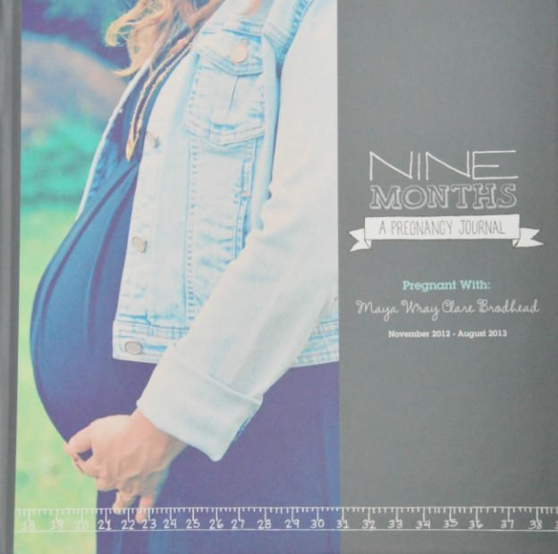 pregnancy journal from shutterfly