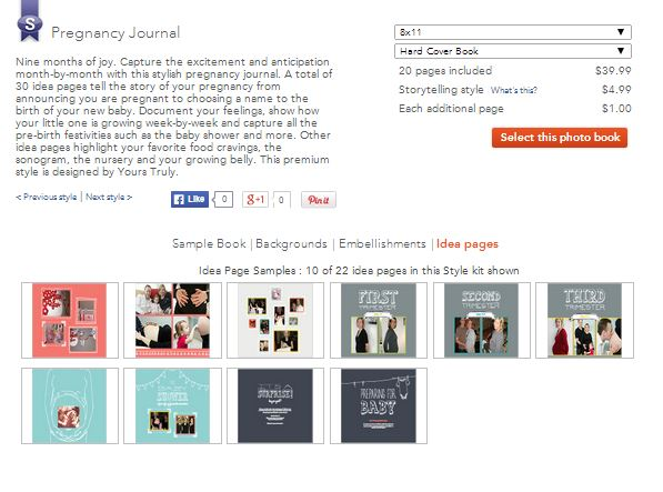 shutterfly preg journal
