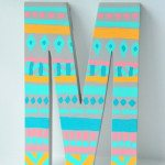 DIY monogram door letter