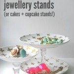 DIY this: gold and white jewellery stands