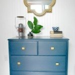 furniture redo: a navy and gold dresser