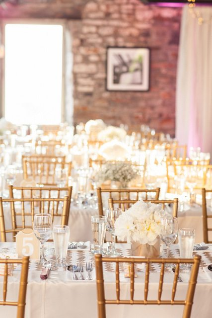 get the look: gold and pink wedding decor