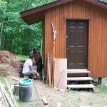 the cottage bunkie makeover: exterior finishes