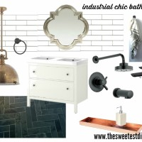 the sweetest digs - industrial chic bathroom design