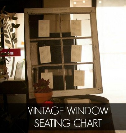 How To Make a Wedding Seating Chart with a Vintage Window - THE ...