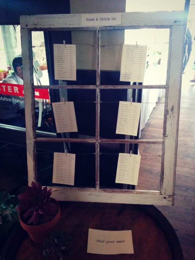 Diy Vintage Window Seating Chart The Sweetest Digs1