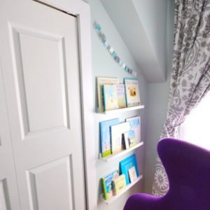 modern blue and purple nursery