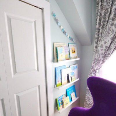 modern blue and purple nursery