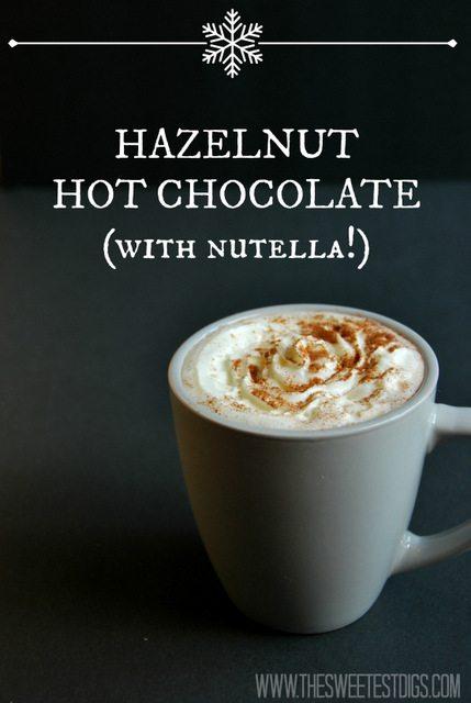 hazelnut nutella hot chocolate recipe - via the sweetest digs