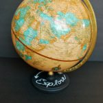 thrift store makeover: chalkboard paint + a globe