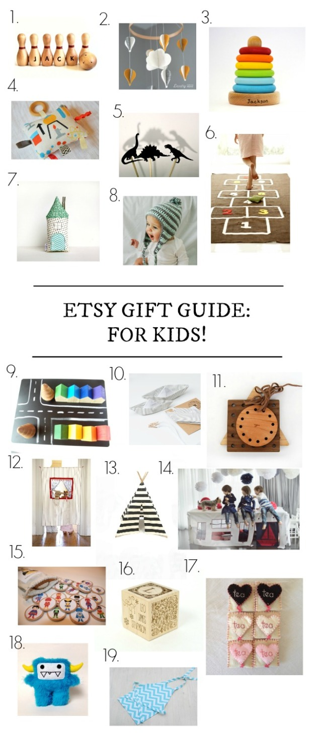 etsy gift guide for kids and babies - via the sweetest digs