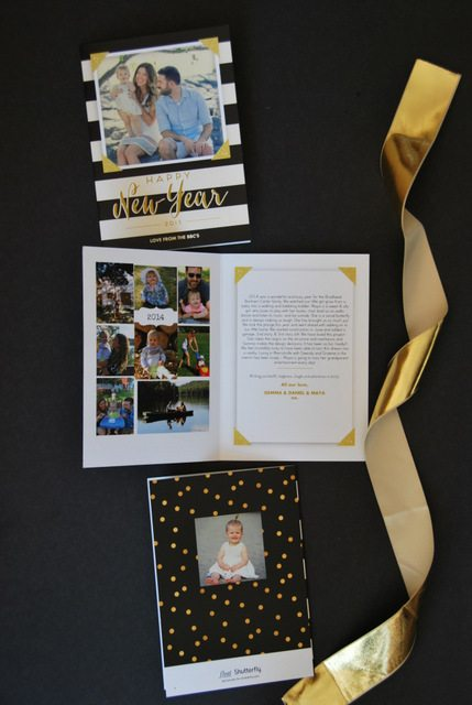 photo black white and gold christmas cards with shutterfly 2