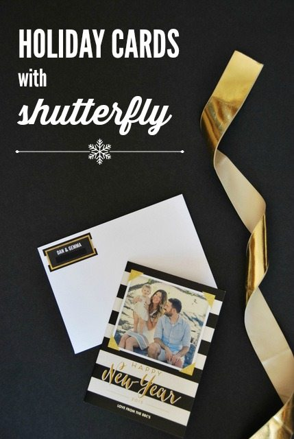 photo black white and gold christmas cards with shutterfly