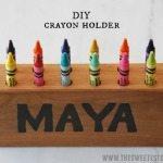 gift idea: DIY crayon holder