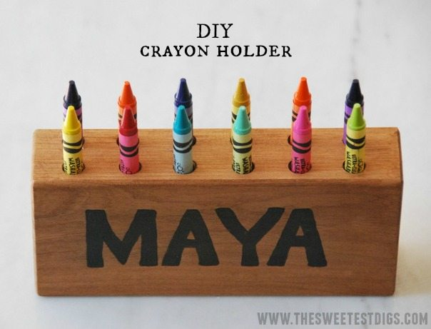 DIY kids crayon holder via the sweetest digs blog