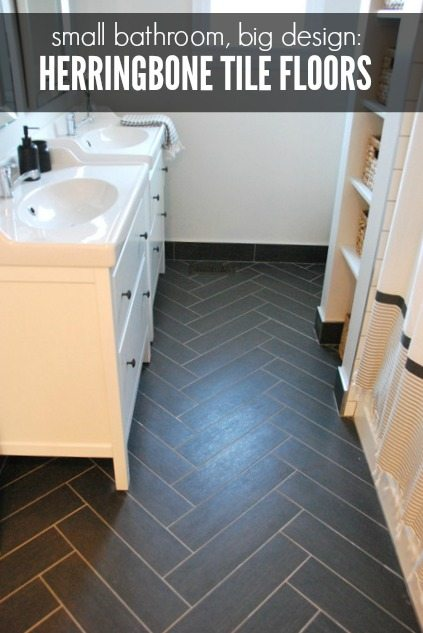 Bathroom Design Herringbone Tile Floor IKEA Vanities THE - Does ikea have flooring