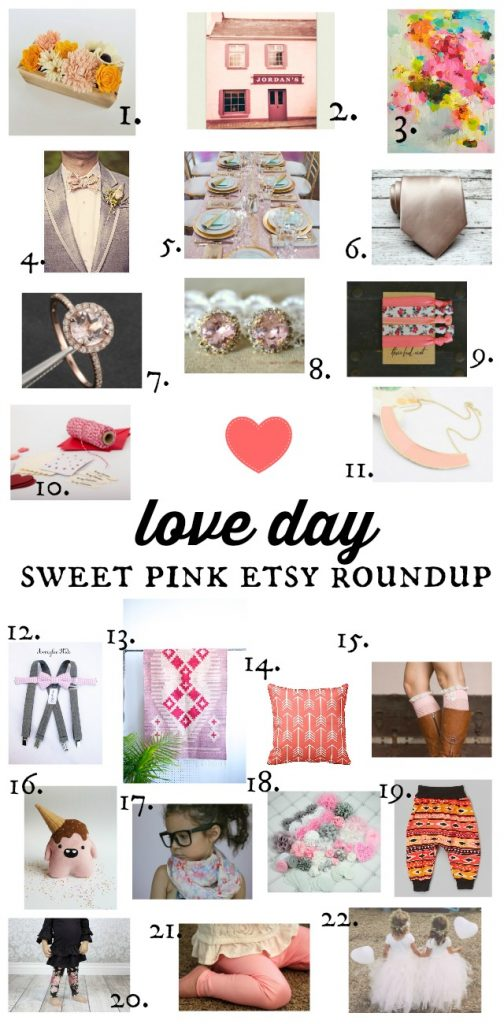 valentines day gift ideas - pink etsy faves roundup via the sweetest digs