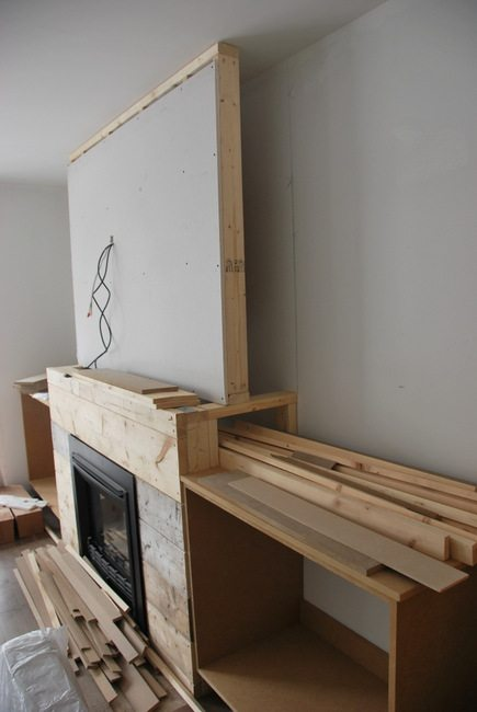 fireplace built in shelving 2 - via the sweetest digs
