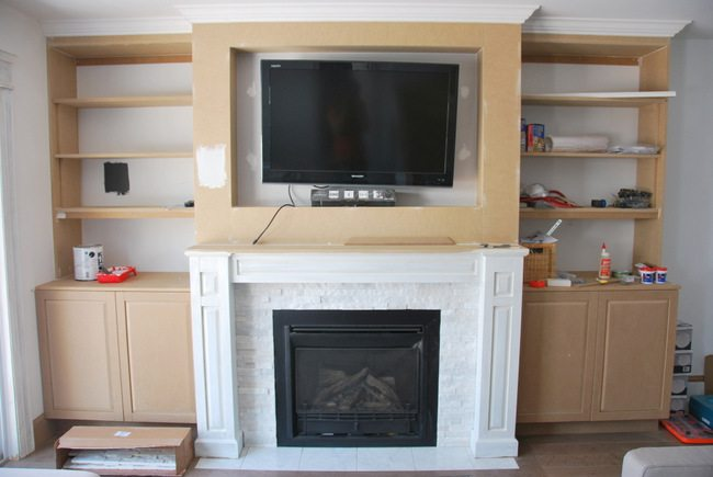 How to design and build gorgeous diy fireplace built ins the fireplace built in shelving 9 via the sweetest digs solutioingenieria Image collections