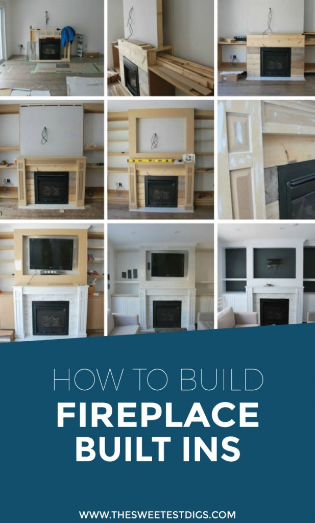 How to design and build gorgeous diy fireplace built ins the want to build some diy fireplace built ins in your living room building these cabinets solutioingenieria Image collections