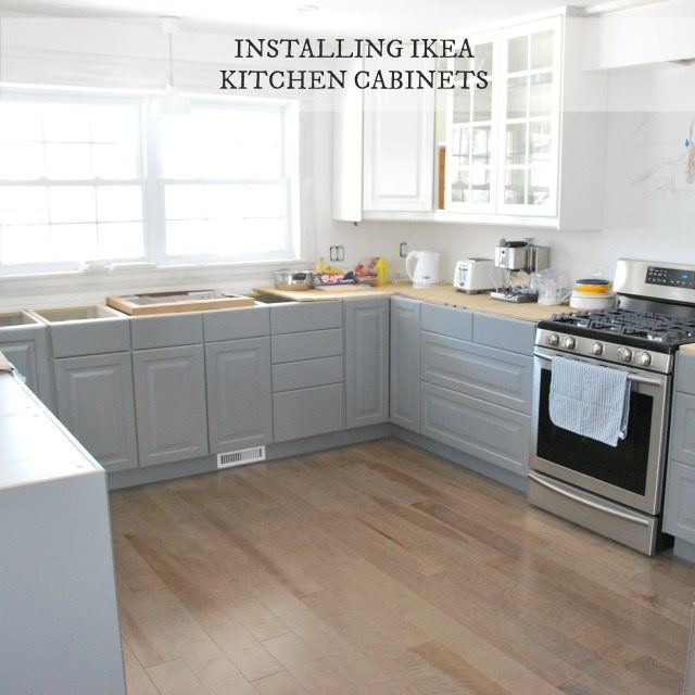 Installing ikea kitchen cabinetry our experience the for How to set up kitchen cabinets