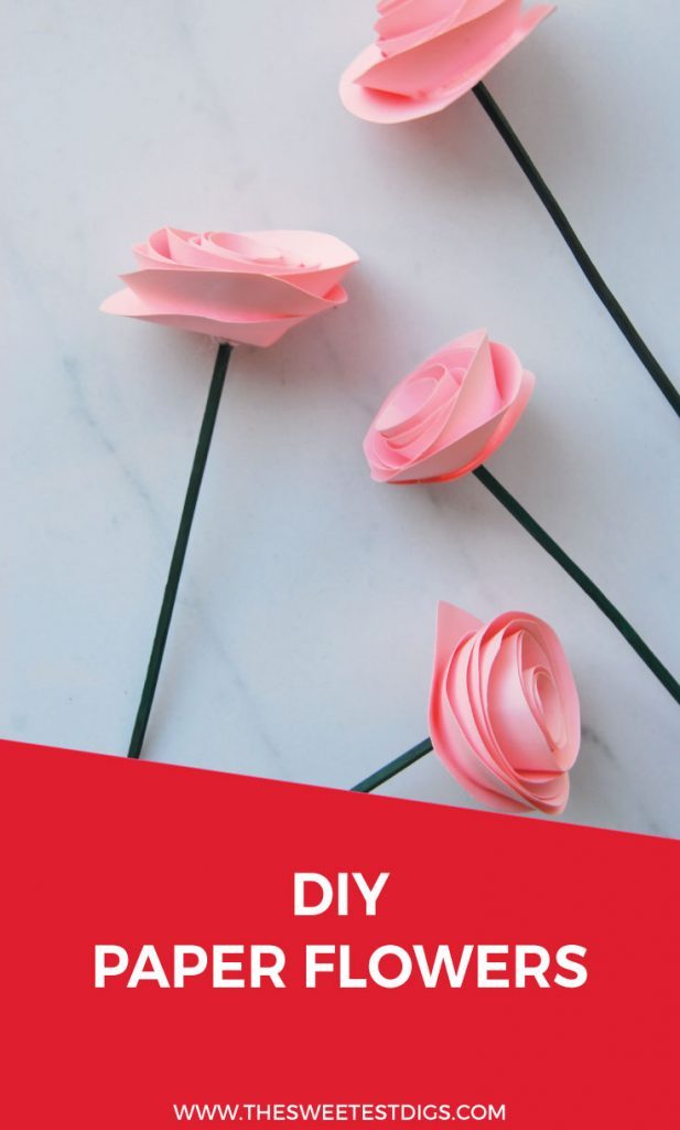 The easiest diy paper flower tutorial the sweetest digs want to make some beautiful paper flowers follow this diy project to make paper roses mightylinksfo