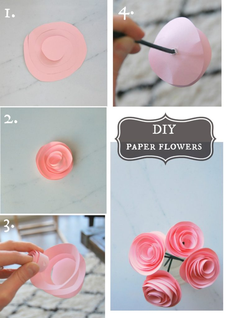 The easiest diy paper flower tutorial the sweetest digs - How to build a desk ideas you can easily put into practice ...