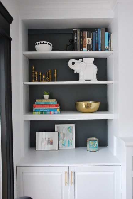 How To Style Built In Shelves the sweetest digs