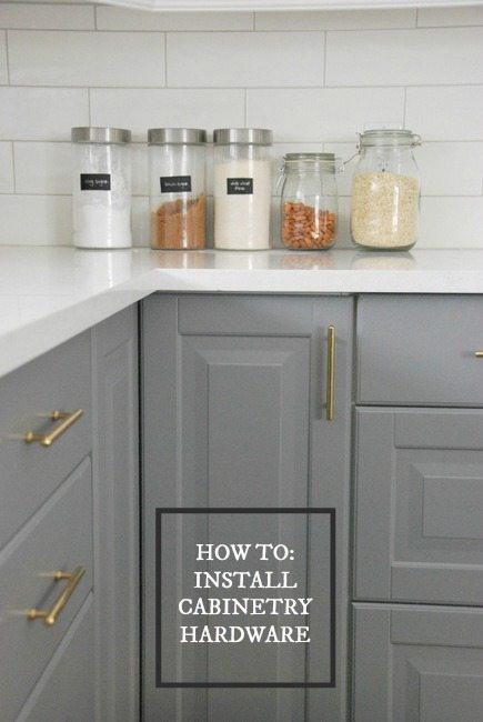 How To Choose and Install Gold Hardware Pulls in your Kitchen - THE ...