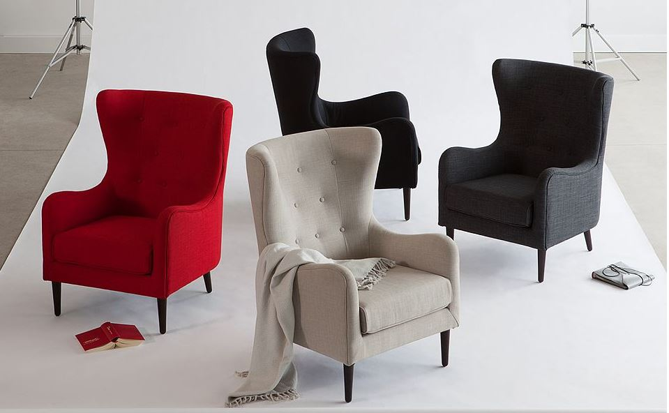 structube polo wingback chair