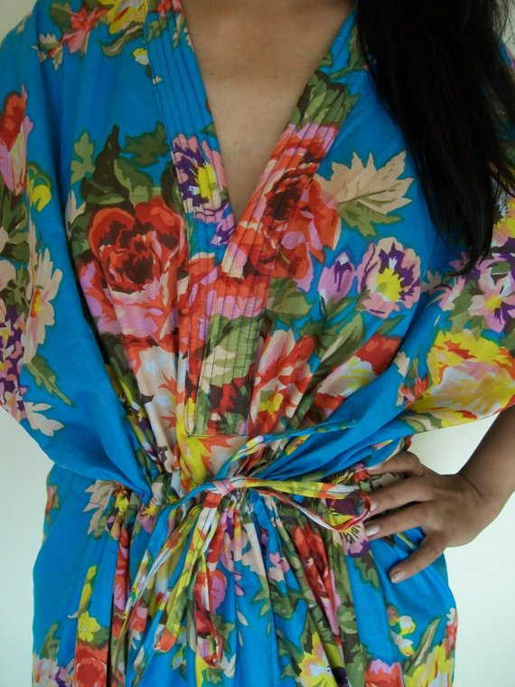 floral nursing maternity gown - via the sweetest digs