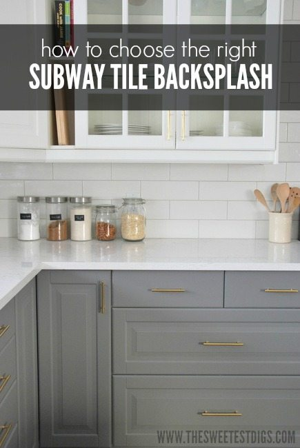 how to choose the right subway tile backsplash for your kitchen - via the sweetest digs