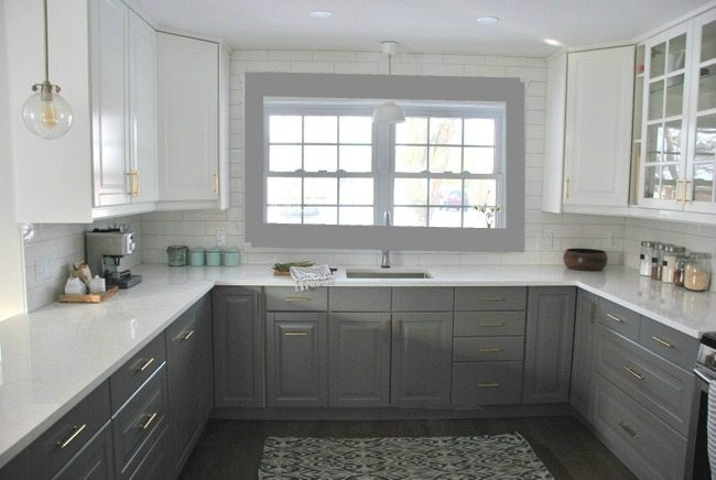 kitchen - photoshopped grey trim