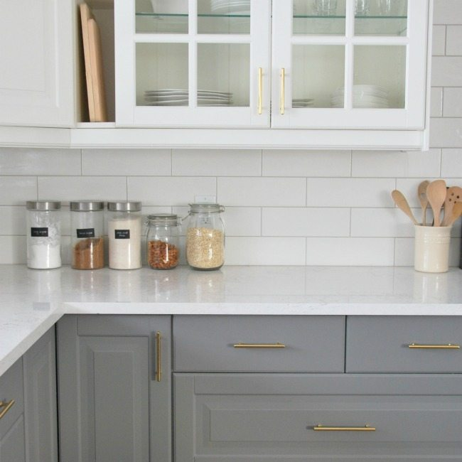 & Installing A Subway Tile Backsplash in Our Kitchen - THE SWEETEST DIGS