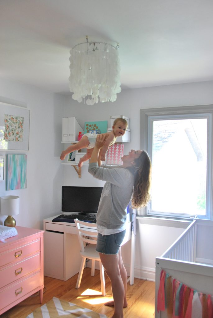 DIY nursery: a sweet space for a little girl designed on a budget with great DIY ideas!