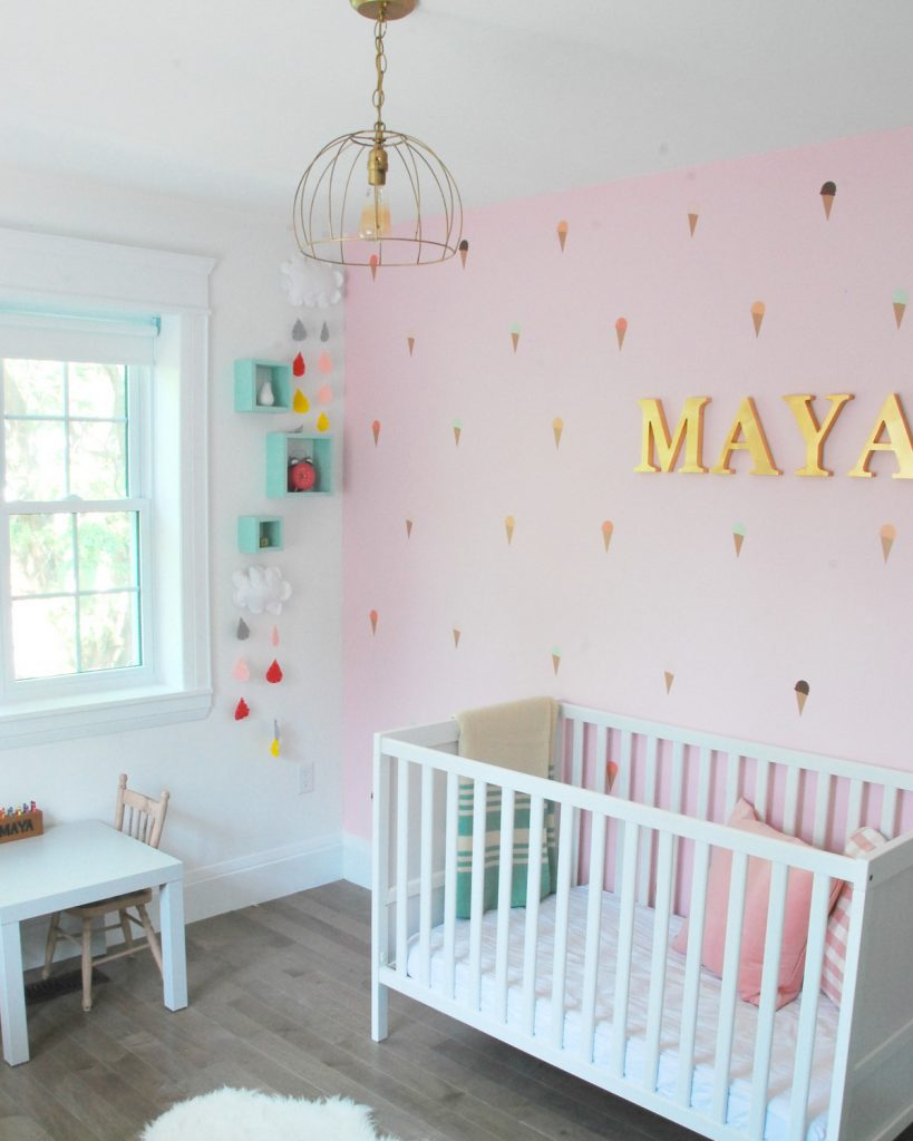 Baby Room Murals: How To Paint A DIY Mountain Mural (No Art Skills Required