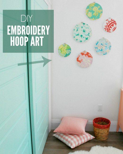 DIY embroidery hoop art tutorial 3- via the sweetest digs