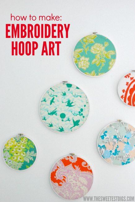 DIY embroidery hoop art tutorial - via the sweetest digs