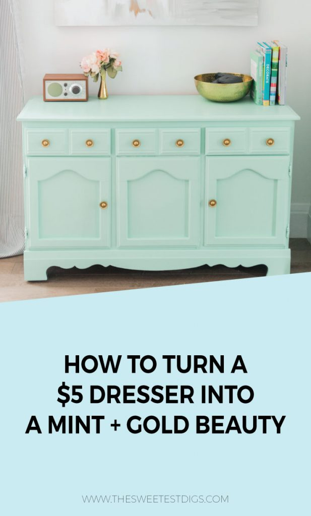 Check Out This Yard Sale Dresser That Cost Only $5!! We Refinished It By