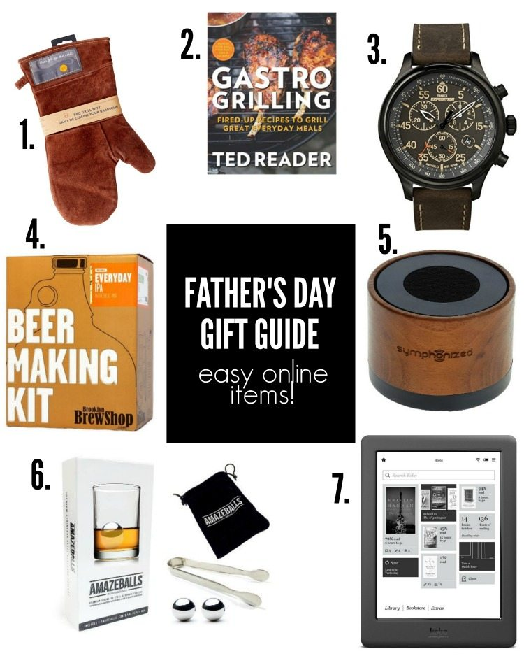 father's day gift guide featuring items you can easily order online - via the sweetest digs