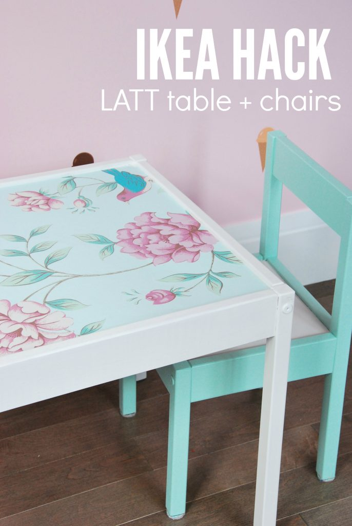 ikea hack latt children's table and chairs 2- via the sweetest digs