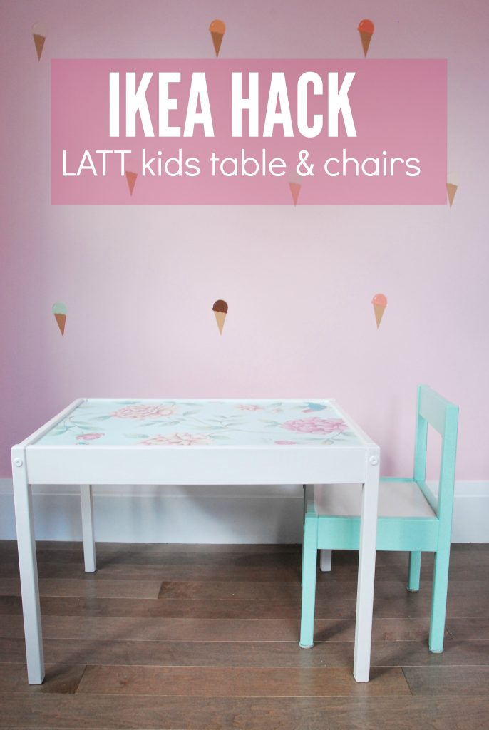 ikea hack latt children's table and chairs - via the sweetest digs