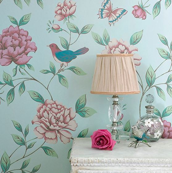 isabelle blue wallpaper by graham and brown