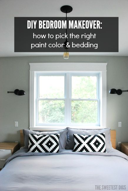DIY Bedroom Makeover   How To Pick The Right Paint Colour And Bedding   Via  The