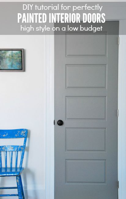 DIY tips for perfectly painted interior doors (we painted our doors gray!) - via the sweetest digs