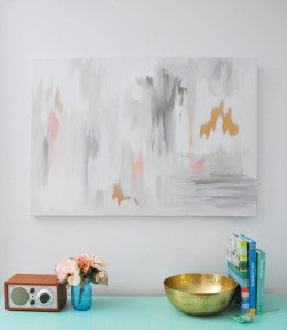 make this DIY abstract artwork with a step-by-step guide in under 30 minutes!! - via the sweetest digs