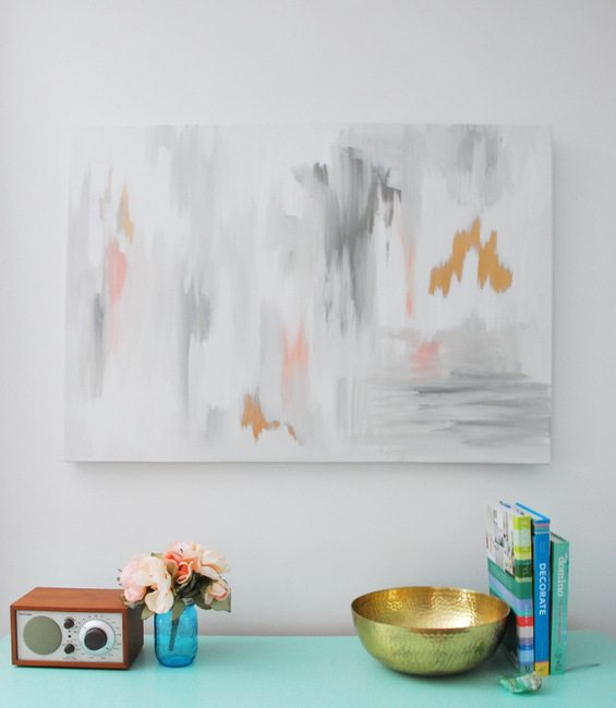 Make Your Own Diy Abstract Art With This Tutorial The