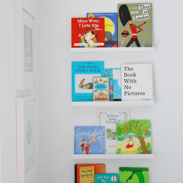 IKEA hack: kids bookshelves