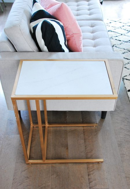 IKEA HackTurn the Vittsjo Into A Gold And Marble Side Table